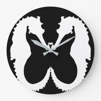 Black & White Seahorse Figure-Ground Clock