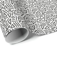black white seamless monogram Wrapping Paper