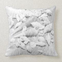 Black & White Seashells Throw Pillow
