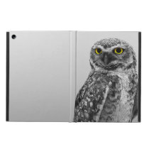 Black & White Serious Big Eyed Owl iPad Air Case