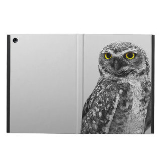 Black & White Serious Big Eyed Owl iPad Air Case
