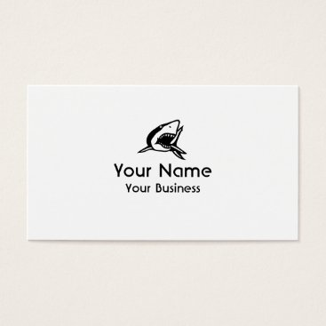 Professional Business Black white Shark custom business cards