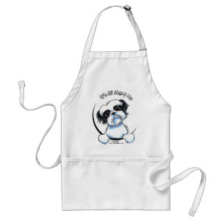 Black/White Shih Tzu IAAM Adult Apron