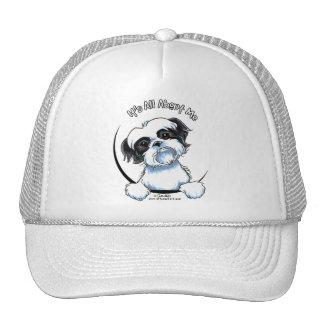 Black/White Shih Tzu IAAM Trucker Hat