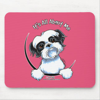 Black/White Shih Tzu IAAM Mouse Pad