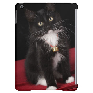 Black & white short-haired kitten,2 1/2 months iPad air covers