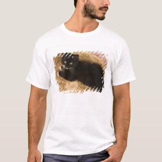 Black & white short-haired kitten on hamper lid, 2 T-Shirt