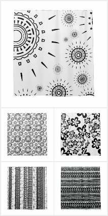 Black & White Shower Curtains