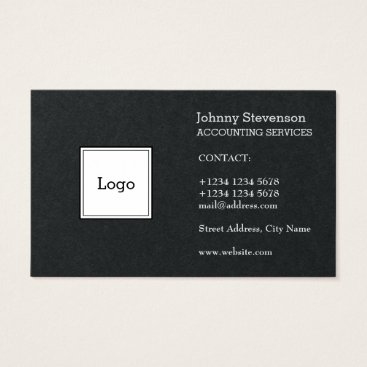 Professional Business Black white sides logo cover business card