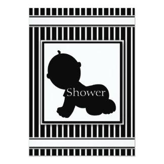 Black & White Silhouette Baby Shower Invitations