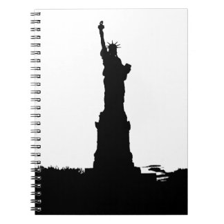 Black & White Silhouette Lady Liberty Notebook