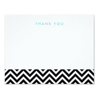 Black & White Simple Chevron Thank You Note Cards Personalized Announcement