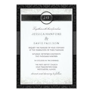 Black & White Simplicity Art Deco Wedding Invite