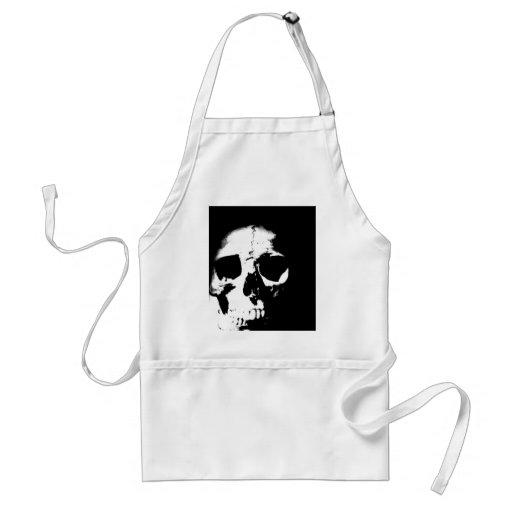 Black & White Skull Adult Apron