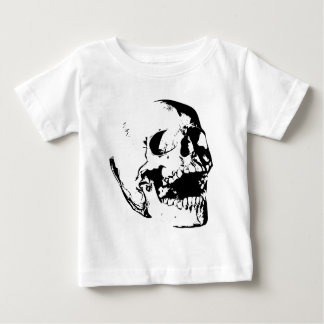 Black White Skull Baby T-Shirt