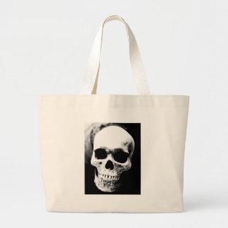 Black & White Skull Tote Bags