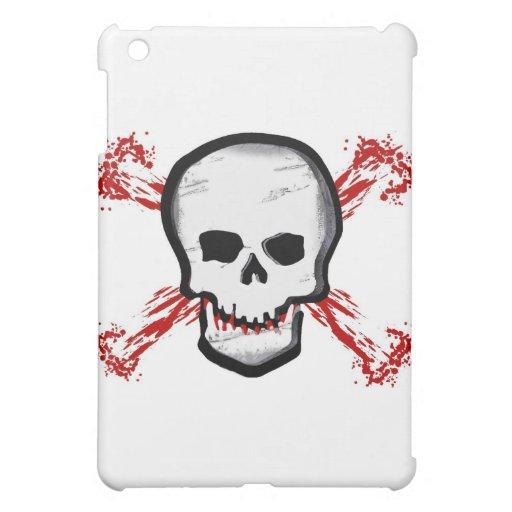 Black/White Skull & Bloody Cross Bones iPad Mini Covers
