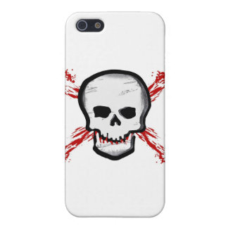 Black/White Skull & Bloody Cross Bones iPhone SE/5/5s Case