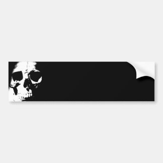 Black & White Skull Bumper Stickers