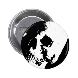 Black & White Skull Button