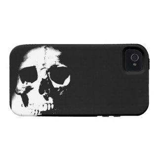 Black & White Skull iPhone 4 Case
