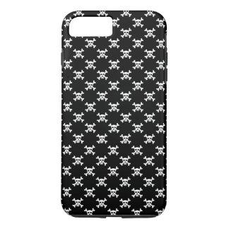 Black White Skull & Crossbones Polka Dots iPhone 8 Plus/7 Plus Case