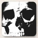 Black & White Skull Drink Coaster