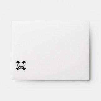 Black/White Skull Envelope