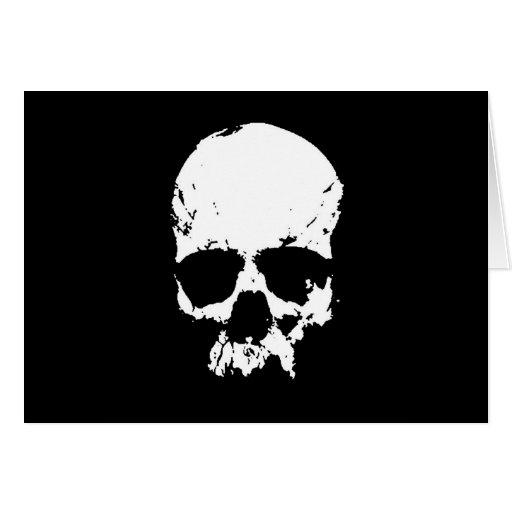 Black & White Skull Greeting Cards