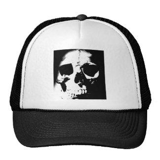 Black White Skull Trucker Hats