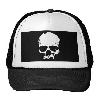 Black White Skull Hat