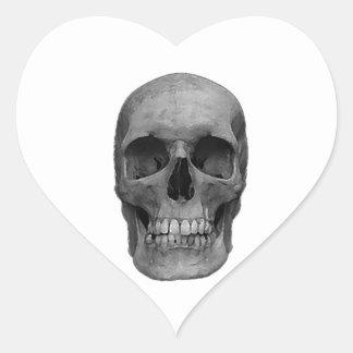 Black & White Skull Heart Sticker