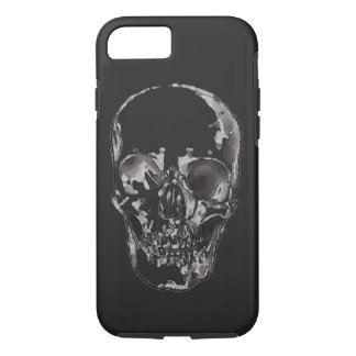 Black & White Skull Heavy Metal Rock Fantasy Art iPhone 7 Case