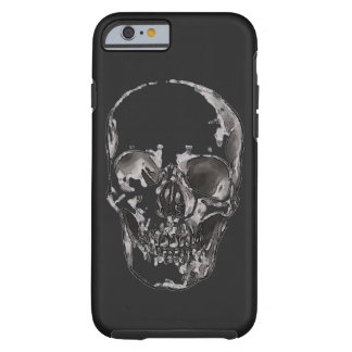 Black & White Skull Heavy Metal Rock Fantasy Art Tough iPhone 6 Case