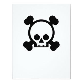 Black/White Skull Custom Invites
