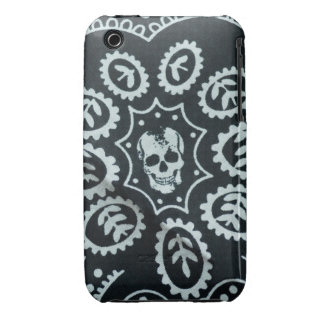 Black & White Skull iPhone 3G/3Gs Barely There iPhone 3 Cover