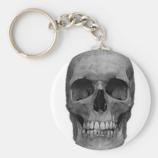 Black & White Skull Keychain