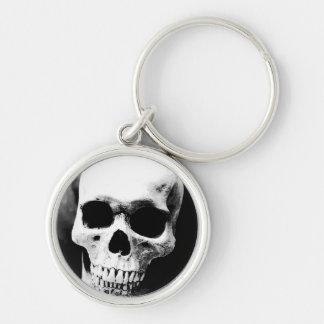 Black & White Skull Key Chain