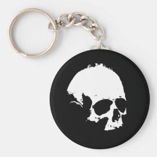 Black White Skull Key Chains