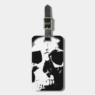 Black & White Skull Luggage Tag
