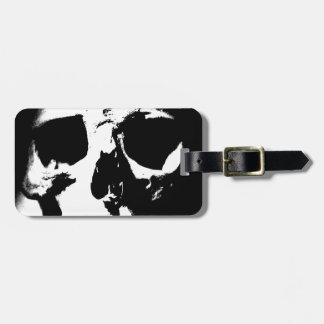 Black & White Skull Bag Tags
