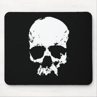 Black & White Skull Mouse Pad