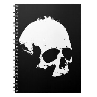 Black & White Skull Notebook
