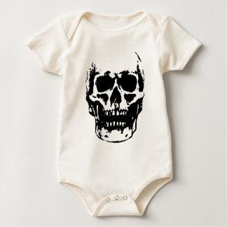 Black White Skull Pop Artwork Baby Bodysuit