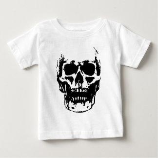 Black White Skull Pop Artwork Baby T-Shirt