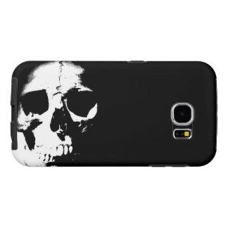 Black & White Skull Samsung Galaxy S6 Case