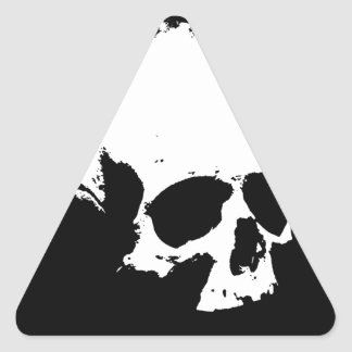 Black & White Skull Triangle Sticker
