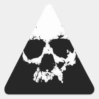 Black & White Skull Triangle Stickers