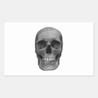 Black White Skull Rectangular Stickers