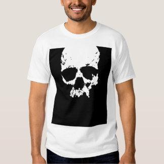 Black & White Skull Tee Shirt
